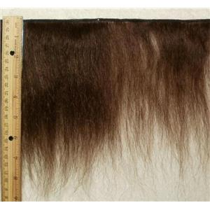 "mohair weft Brown 6 coarse textured 8 x 86"" 24070 FP"