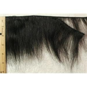 "Black feathered short human hair weft 3-5""x 130""  24194"