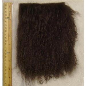 "4"" Deep brown tibetan lambskin doll no seam 24314"