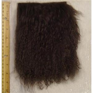 "2"" sq Deep brown tibetan lambskin no seam  24318"