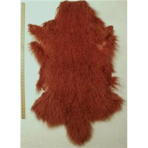 full pelt Brown red Tibetan lambskin 24618