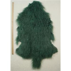 Quarter pelt Sea green Tibetan lambskin  24623