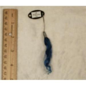 LM Bright blue 2% color ring sample on mohair  24596