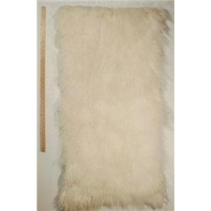 full plate natural  White Tibetian lambskin 24674