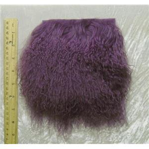 """2"""" sq  dusty plum  tibetan lambskin no seams 24820"""