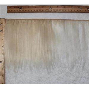"mohair weft coarse Natural undyed 60 straight 6-8"" x 60"" 25429 HP"