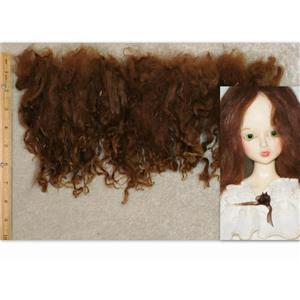 "natural Auburn Suri Alpaca washed  7-10"" cria wool 1 oz 24981"
