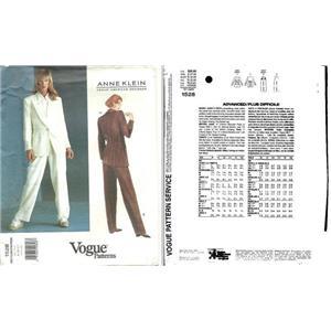 Vogue pattern by Anne Klein #1528   jacket and slacks sizes 8-10-12   25027