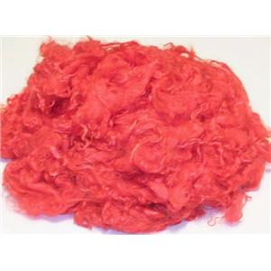 Mohair dyed yearling/fine adult  deep  red 77-38 10229