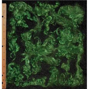 Kelly green 1 % m  Mohair curls 1 oz  medium adult  25098