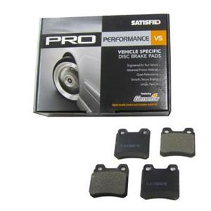 *NEW* Front/Rear Semi Metallic  Disc Brake Pads with Shims - Satisfied PR411