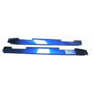 OEM Hummer H2 rocker Molding With cut outs SET (Blue)