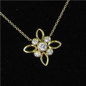 Kwiat Large Eyelet Pendant Necklace 0.45cts Diamond 18k Yellow Gold New $2750