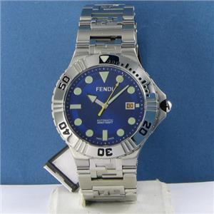 Fendi F496130 High Speed Nautical Blue SunRay Dial Mens Watch NWT $1995