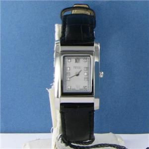Fendi F771241D Rectangle Loop Mini Diamond MOP Dial Ladies Watch $850