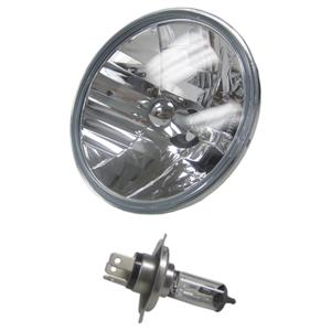 "7"" Set of (2) Round Halogen Motorcycle Bike Headlight Lamp Bulb Diamond"