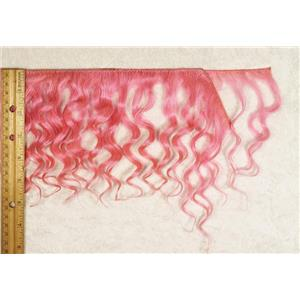 "mohair weft  pink wavy weft double row  6-8x50"" 25469 HP"