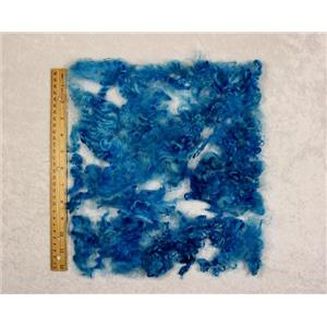 "brilliant blue angora goat fine adult Mohair locks 1 oz 3-5"" bulk dyed  25471"