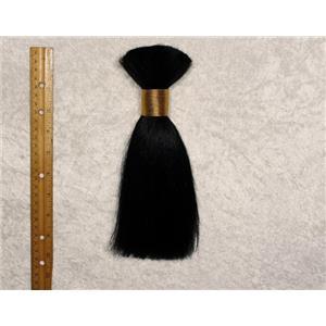 "Yak hair Bulk Black straight , theatrical wig making 7-8 ""  x 90-100 g 25466 FP"