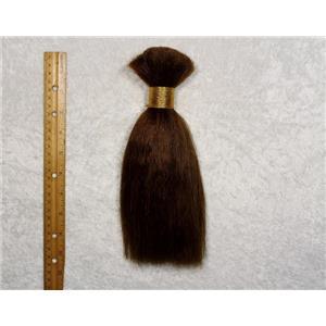 "Yak hair Bulk Brown 6  straight,theatrical wig making 7-8 ""  x 90-100 g 25483 FP"