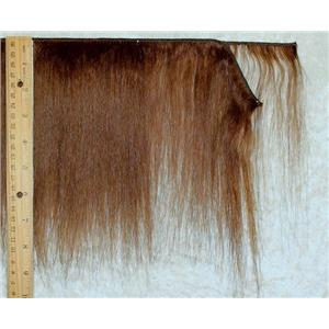 "Yak hair weft Brown 6 straight fine yak  double row 6-8"" x 100 "" 25487 FP"
