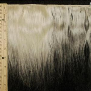 "mohair weft undyed coarse straight 8 x 86"" 24078 FP"