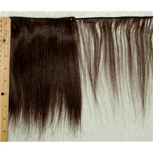 "deep brown 4 straight mohair weft coarse 6-8 x 190"" 90-100 25939 FP"