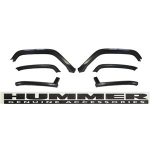 "OEM Special Edition Hummer H2 Paintable 2"" Heavy Duty Fender Flare Kit 6 Pc Set"