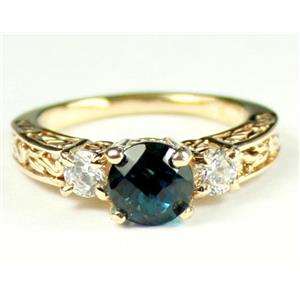 R254, London Blue Topaz w/ Accents, Gold Ring