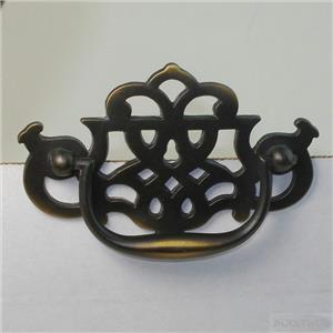 Fancy Antique Dark w/ Copper Chippendale Drawer Pull ...