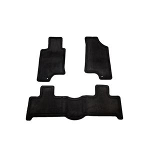 3 Piece Black Floor Mat Set | Front and Rear Carpets | Hummer H3 H3T Factory OEM