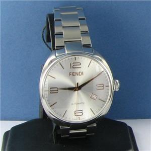 Fendi Fendimatic F201016000 Silver Dial Automatic 42mm Steel Watch NWT $2195
