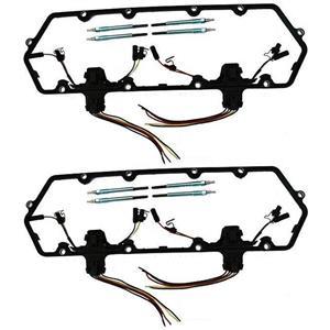 Austekk - K-6584-AOCA - Diesel Glow Plug Kit - Gaskets Harnesses 8 Plugs Pigtails