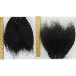 """Yak hair weft color1B brown/Black heavy natural straight 7-8 x 50"""" 25748 QP"""