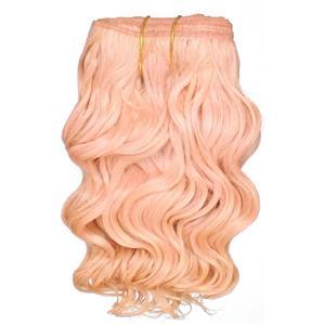 "Light Pink wavy mohair weft coarse 6- 8"" x 50"" QP  25782"