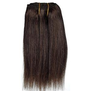 "Dark Brown 3 straight mohair weft coarse 6- 8"" x 48"" 26614 QP"