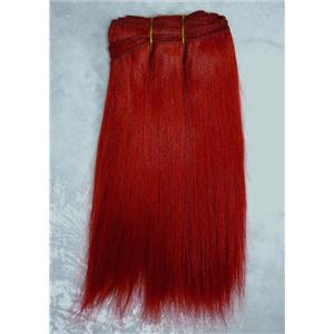 "Red straight mohair weft coarse  6-8"" x200""  25893 FP"