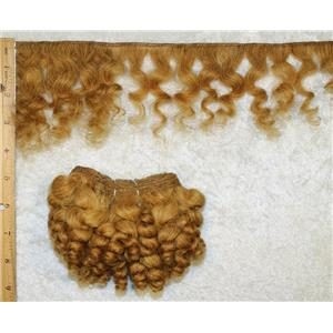 "mohair weft coarse unglazed strawberry blonde 25 curly hair 5-7x45""  25613  QP"