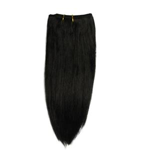 "black #1 straight afro weft coarse mohair and synthetic mix 6-8""x45-50"" 26018 HP"