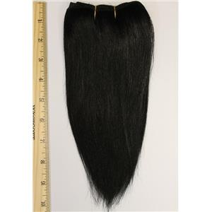 "Black #1 straight mohair weft coarse 6- 8"" x 50"" 26298 QP"