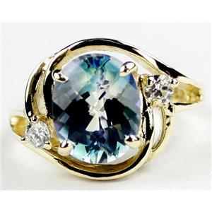 R021, Neptune Garden Topaz, Gold Ring