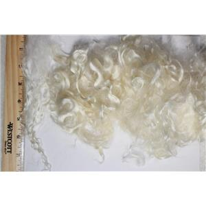 "3"" -7"" satiny high luster  curly - wavy washed fine mohair 1 oz doll hair  26128"