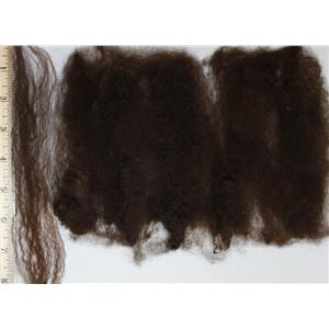 "deep warm brown Doll hair Cotswold wool locks wooly Yaki style 5-9"" 1 oz 25155"