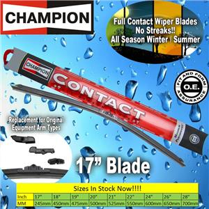 "*NEW* Champion Contact 17"" Inch All Season Full Contact Windshield Wiper Blade"