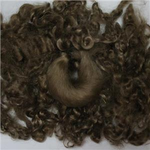 "color 620 DS blonde fine curly angora goat mohair doll hair 1 oz 3-6"" 26183"