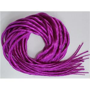 fuschia synthetic Dreadlocks 22' Double Ended Dread Fall Extensions oz 26187