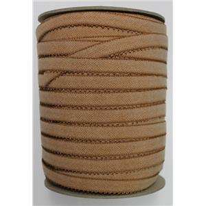 "Crownette trims Finishing Plush Elastic dk nude full spool abt 200 ydx5/8"" 26196"