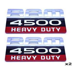 Set of 2 - New OEM Dodge Truck 4500 Heavy Duty Front Door Logo Emblem Badge Name