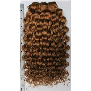 "Camel hair weft  Ginger # 17 double row wavy weft 11-12 x84"" 90-100g 26246 FP"