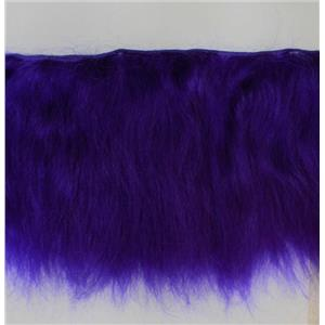 "Yak hair weft fine clown wig making weft dyed violet B1% 5g 7-8""x134""  FP 26268"